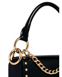 Sacai - Black 'horseshoe' Suede Fringe Stud Leather Bag - Lyst