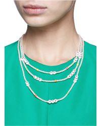 Venessa Arizaga - White 'say What?' Glass Pearl Necklace - Lyst