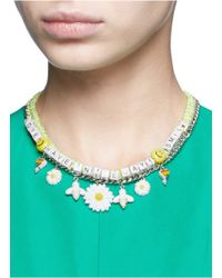 Venessa Arizaga - Yellow 'have A Nice Day' Necklace - Lyst