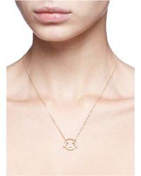 Ruifier - Multicolor 'lol' Diamond Topaz 18k Yellow Gold Pendant - Lyst