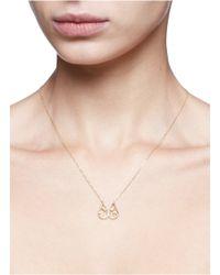 Ruifier - Metallic 'felix' Diamond Topaz 18k Yellow Gold Pendant Necklace - Lyst