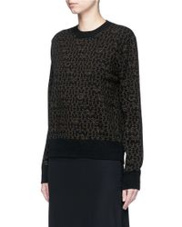Givenchy Black Star Logo Print Wool-cashmere Sweater