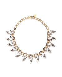 Erickson Beamon - Metallic 'milky Way' Swarovski Crystal 24k Gold Plated Choker Necklace - Lyst