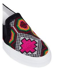 Joshua Sanders - Multicolor 'namibia' Embroidered Slip-on Sneakers - Lyst