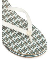 Tory Burch - Multicolor 'thin' Ravenna Print Flip Flops - Lyst