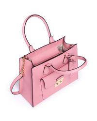 Michael Kors Pink 'bridgette' Medium Saffiano Leather Tote