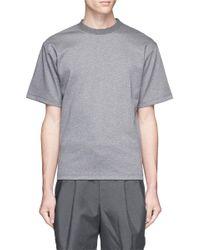 Kolor | Gray Rib Neck Cotton T-shirt for Men | Lyst