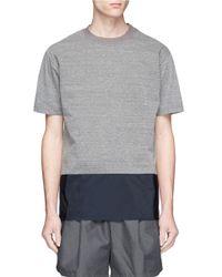 Kolor | Gray Contrast Hem T-shirt for Men | Lyst