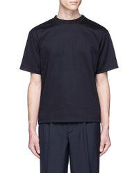 Kolor | Blue Rib Neck Cotton T-shirt for Men | Lyst