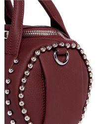 Alexander Wang Red 'mini Rockie' Stud Cowhide Leather Bag
