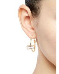 Eddie Borgo - Metallic Cubic Zirconia Hoop Earrings - Lyst