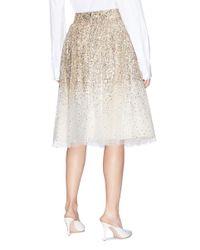 Alice + Olivia Natural 'catrina' Sequin Tulle Skirt