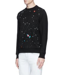 PS by Paul Smith Black Constellation Print Sweatshirt for men