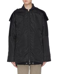 Acne Black Detachable Hood Oversized Parka