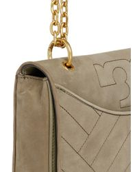 Tory Burch Green 'alexa' Convertible Nubuck Leather Shoulder Bag