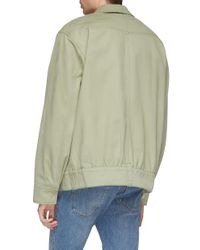 Acne Green Twill Shirt Jacket for men