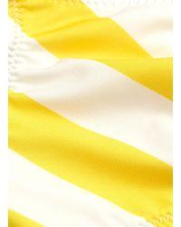 Solid & Striped Yellow 'the Rachel' Stripe Bikini Top