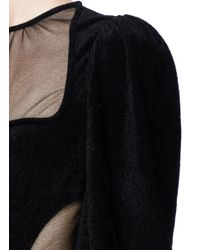Alexander McQueen | Black Balloon Sleeve Long Knit Dress | Lyst
