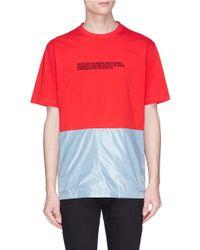 CALVIN KLEIN 205W39NYC Multicolor Contrast Panel Slogan Print T-shirt for men