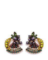 Elizabeth Cole - Multicolor 'petite Fruit Salad' Swarovski Crystal Earrings - Lyst
