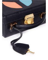 Mark Cross   Black 'grace Small Box' Peace Sign Cutout Leather Trunk   Lyst