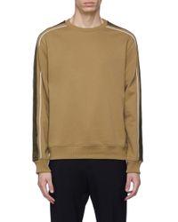3.1 Phillip Lim Multicolor Satin Stripe Sleeve Sweatshirt for men