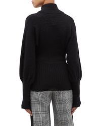 Maggie Marilyn Black 'once I Figured It Out' High Neck Sweater
