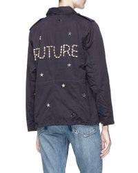 Tu Es Mon Tresor - Blue 'future' Glass Crystal Star Charm Canvas M-65 Field Jacket - Lyst