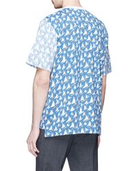 Marni - Blue Reverse Panel Sailing Boat Print T-shirt for Men - Lyst