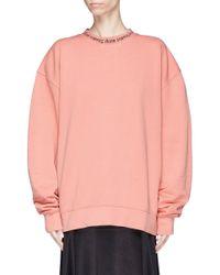 Acne Multicolor 'yana' Logo Intarsia Sweatshirt