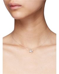 Bao Bao Wan | Metallic 'little Train' 18k Gold Diamond Pearl Necklace | Lyst