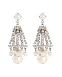 Erickson Beamon - Metallic 'knights' Swarovski Crystal Glass Pearl Drop Earrings - Lyst