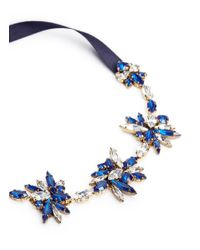 Erickson Beamon Blue 'silver Screen' Swarovski Crystal Ribbon Choker Necklace