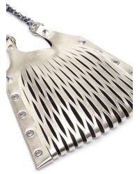 Sonia Rykiel Metallic 'le Baltard' Mini Leather Net Tote