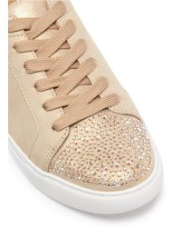 Kenneth Cole Metallic 'kam' Swarovski Crystal Embellished Toe Cap Lamé Sneakers