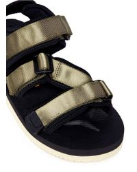 Suicoke - Green 'kisee-v' Strappy Sandals - Lyst