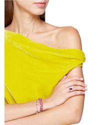 LC COLLECTION - Metallic Diamond Ruby 18k White Gold Bracelet - Lyst