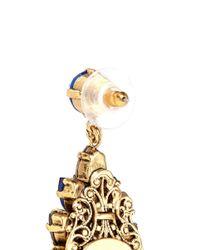 Erickson Beamon Blue 'parlor Trick' Swarovski Crystal Cluster Drop Earrings