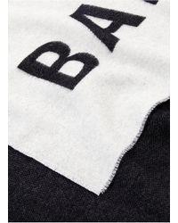 Balenciaga Multicolor Logo Jacquard Wool Scarf for men