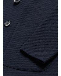 Barena Blue 'mosto Suro' Textured Knit Soft Blazer for men
