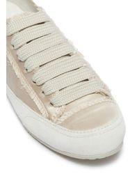 Pedro Garcia White 'parson' Satin Sneakers