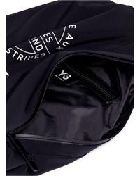 Y-3 - Blue Logo Print Backpack for Men - Lyst
