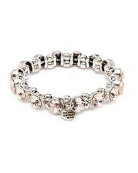 Philippe Audibert - Metallic 'marilyne' Swarovski Crystal Elastic Bracelet - Lyst