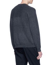 Theory Gray 'weston' Cashmere Sweater for men