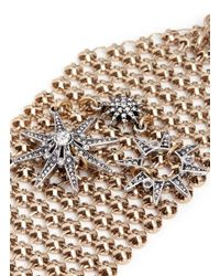 Lulu Frost - Metallic 'radiant' Glass Crystal Star Mesh Bracelet - Lyst
