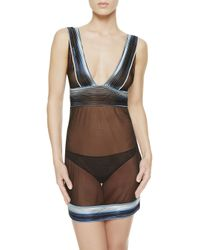La Perla | Blue Slip With G-string | Lyst