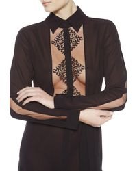 La Perla | Blue Night Robe | Lyst