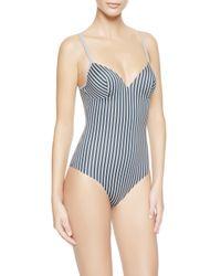 La Perla | Blue Padded Swimsuit | Lyst
