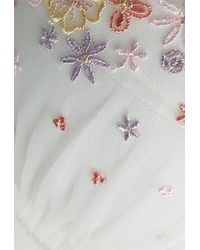 La Perla | Multicolor Off-white Lycra Non-wired Push-up Bra With Embroidery | Lyst