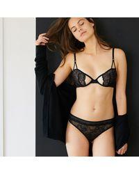 LA REDOUTE - Black Padded Lace Bra - Lyst